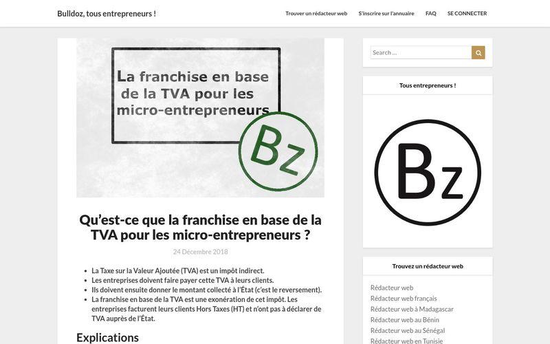 Qu'est-ce que la franchise en base de la TVA pour les micro-entrepreneurs? - Bulldoz, tous entrepreneurs !
