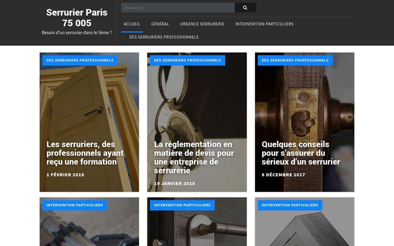 Serrurier Paris 75 005 - Besoin d'un serrurier dans le 5ème ?