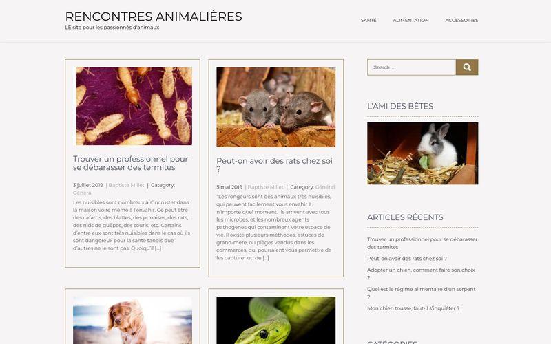 Rencontres animalières - LE site pour les passionnés d'animaux