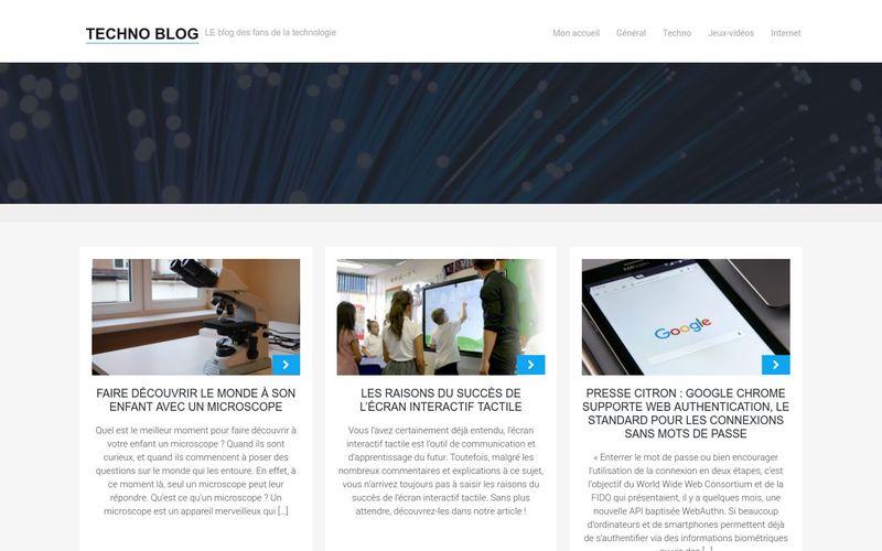 Techno Blog - LE blog des fans de la technologie