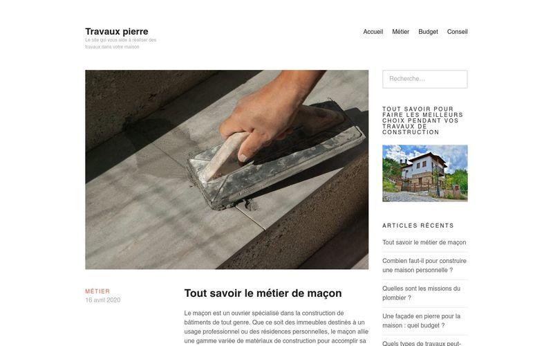 Travaux pierre - Le site qui vous aide à réaliser des travaux dans votre maison