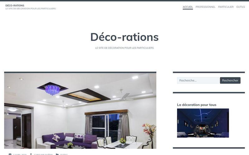 Déco-rations - Le site de décoration pour les particuliers