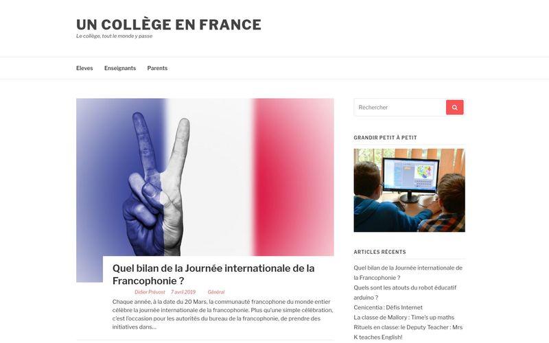 Un collège en France - Le collège, tout le monde y passe