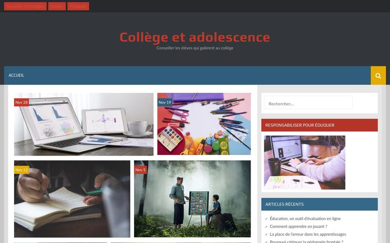 Collège et adolescence - Conseiller les élèves qui galèrent au collège